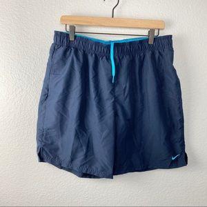 "Nike Swim Men's Solid Lap 7"" Volley Swim Trunk, L"